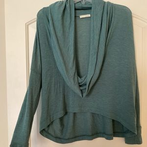 Lush Sweater cowl neck top size Large